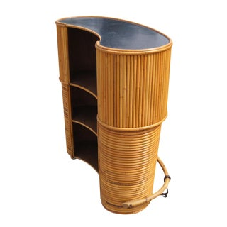 English Rattan Art Deco Cocktail Bar