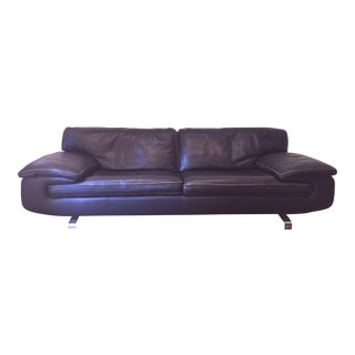 Roche Bobois Modern Leather Sofa