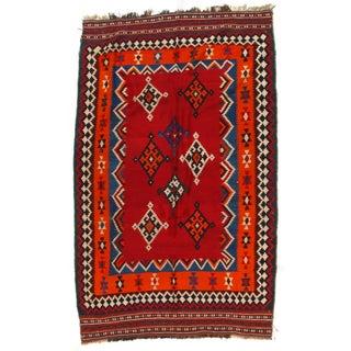 Vintage Persian Kilim Rug - 5' X 8'