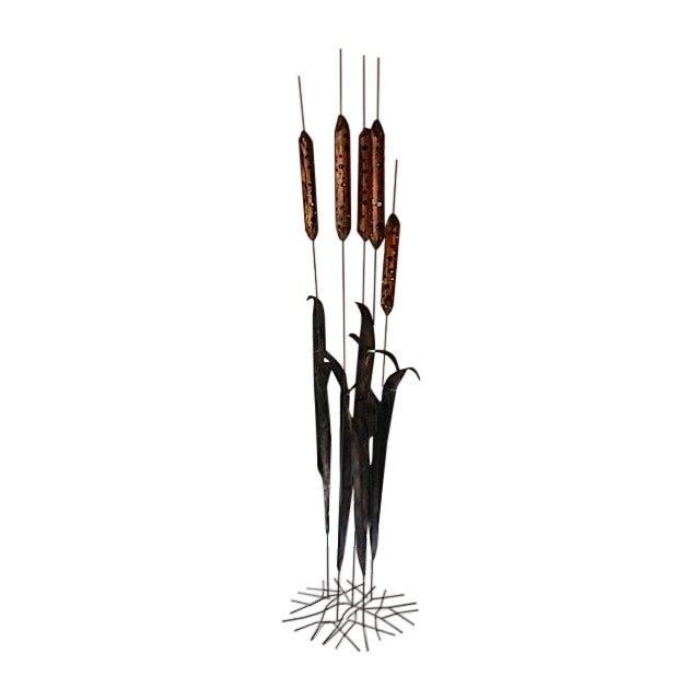 Image of Brutalist Metal Reeds Sculpture