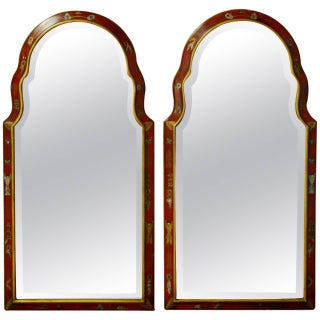 Queen Anne Style Chinoiserie Mirrors - Pair