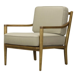 Spectra Home Traditional Sand Linen Chair