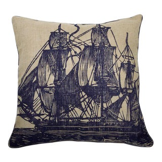Paul Simon Oversized Handprinted Nautical Pillow