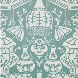 Clarence House Teal The Vase Wallpaper - 3 Double Rolls