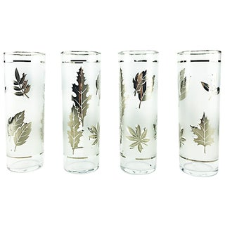 Libbey Silver Leaves High Balls - Set of 4