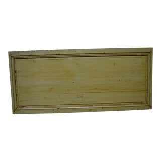 Painted Pine Queen Size Headboard from Nineteenth Century Panel