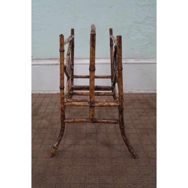 Antique Bamboo Magazine Stand - Image 3 of 8