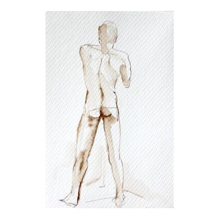 Standing Male Nude Figure Drawing
