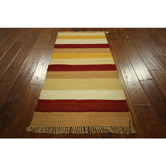 "Vegetable Dyed Navajo Style Kilim Rug - 2' x 4'3"" - Image 4 of 5"