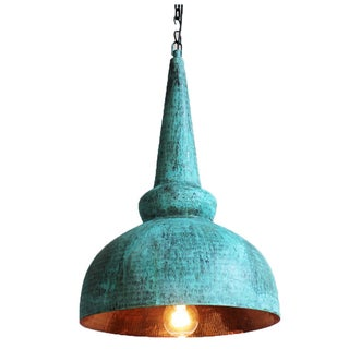 Hand-Pounded Copper Lantern
