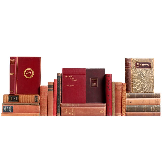 Earthtone Poetry Selection Books - Set of 22 - Image 1 of 2