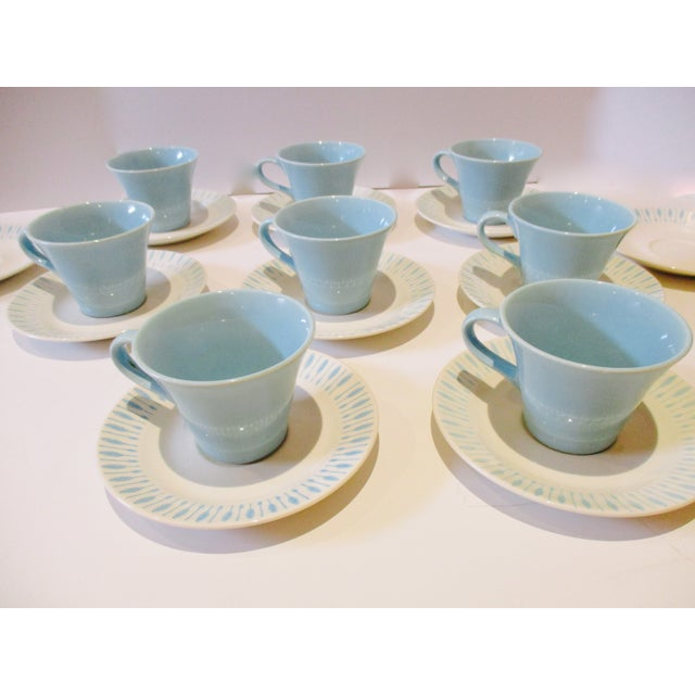 Mid Century Modern Atomic Starburst Cups & Saucers - 18 Pc - Image 10 of 11