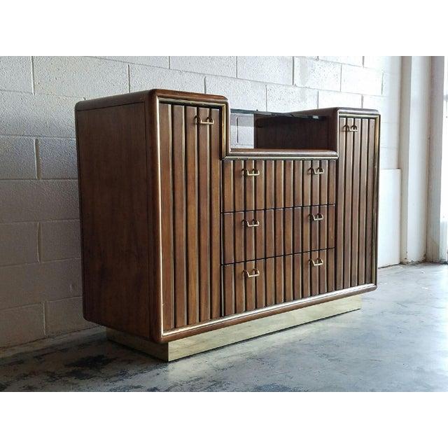 Walnut & Brass Bar Cabinet - Image 3 of 4