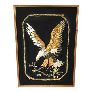 Vintage Enid Collins Style Eagle Textile Art