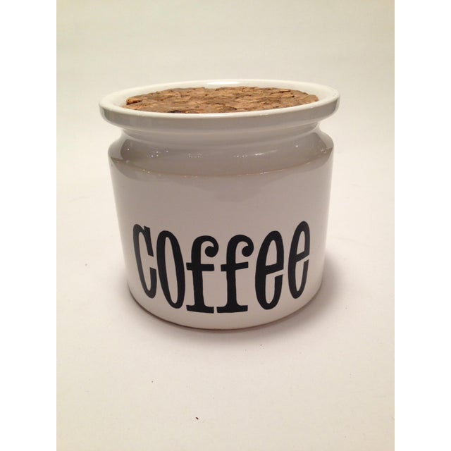 English Stoneware Coffee Canister - Image 2 of 7