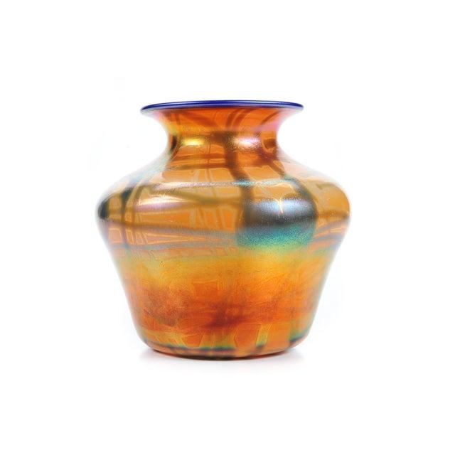Image of Imperial Art Glass Heart & Vine Decor Vases- A Pair