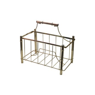 Faux Bamboo Metal Magazine Rack