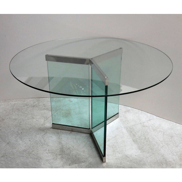 Pace Round Chrome & Glass Dining Table - Image 2 of 6