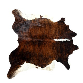 "Brazilian Brown Cowhide Rug - 5'9"" x 5'11"""