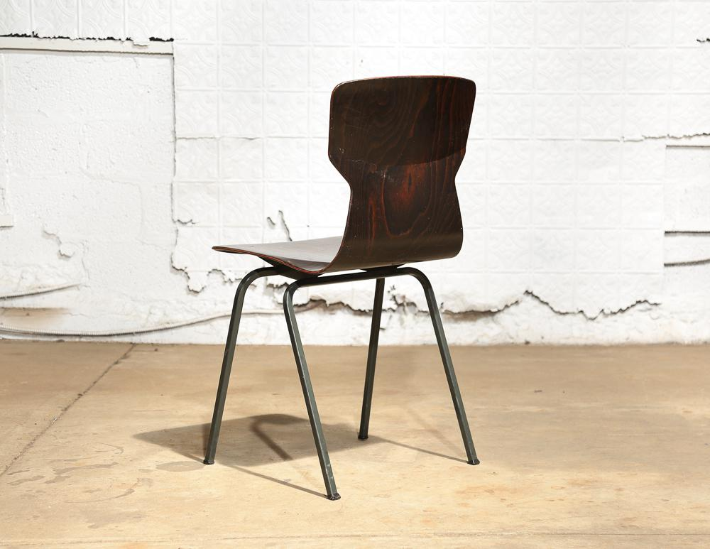 Set Of 6 Vintage Bent Plywood Chairs   Image 6 Of 11