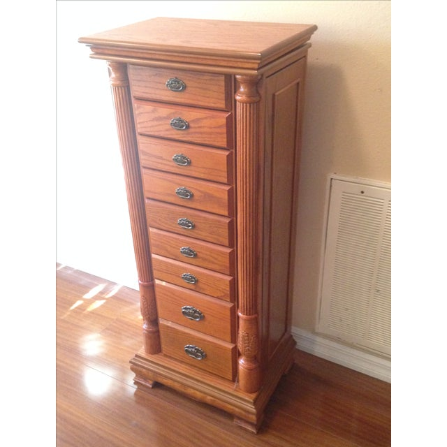 Emily Powell Wood Jewelry Cabinet - Image 4 of 8