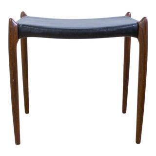 Neils Moller Mid Century Danish Modern Black & Rosewood Footstool