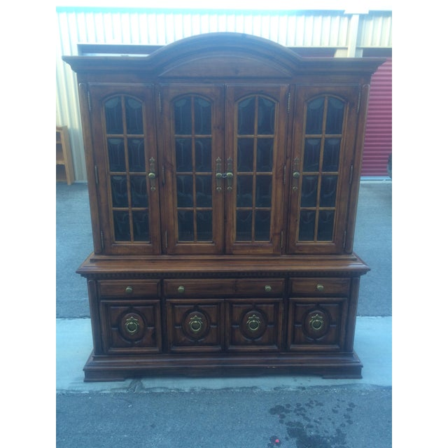Burlington House Solid Wood Buffet with Hutch - Image 2 of 8