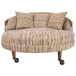 Round Mid-Century Modern Lounge Chair