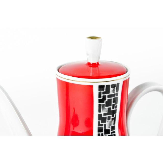 Art Deco Porcelain German Espresso Set - 17 Pieces - Image 6 of 11