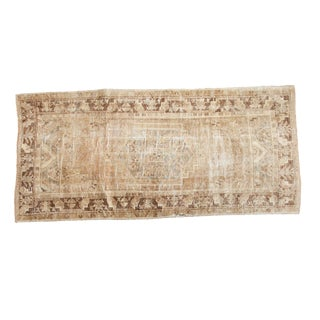 "Vintage Distressed Oushak Rug Runner - 3'5"" x 7'4"""