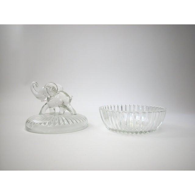 Glass Lidded Elephant Bowl - Image 6 of 7