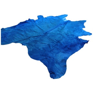Hide Rug - XL Solid Dye Blue