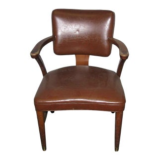 Walnut & Leather Office Chair