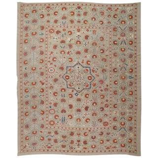 """Large Uzbek """"Suzani"""" Embroidery"""