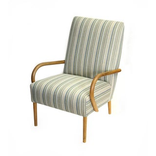 Scandinavian Modern Striped Armchair