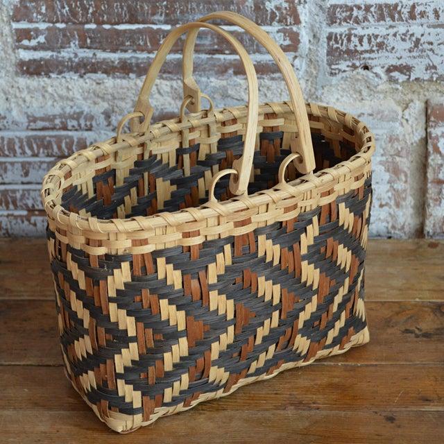 Carol Welch Cherokee White Oak Purse Basket - Image 7 of 10