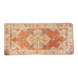"Vintage Distressed Oushak Rug Runner - 2'5"" x 5'2"""
