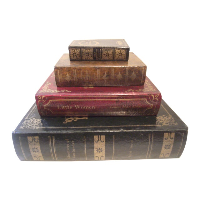Faux Book Boxes - Set of 4 - Image 1 of 11