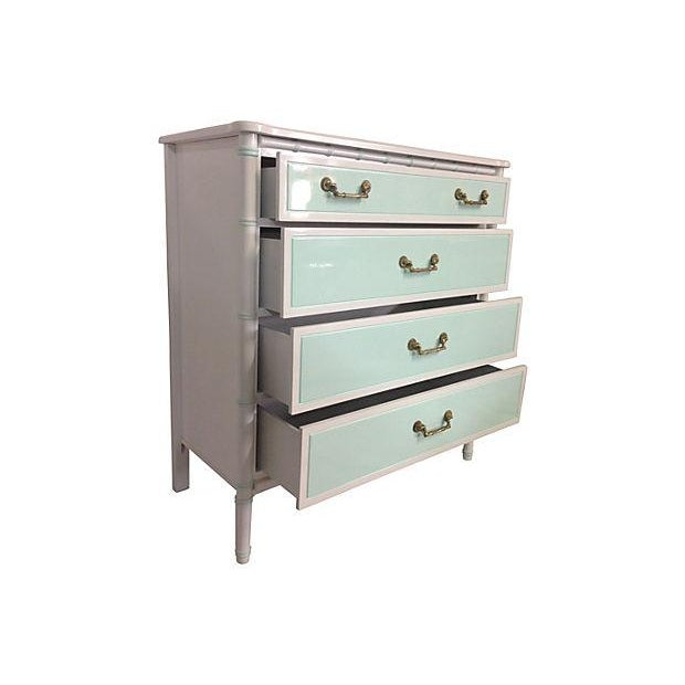 Mint & White Faux Bamboo Dresser - Image 2 of 6