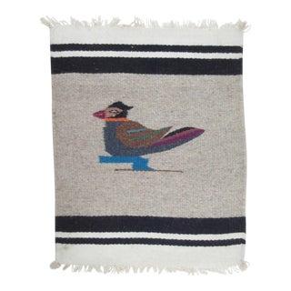 Vintage Chimayo Bird Motif Weaving