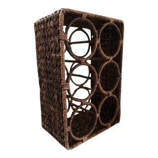 Woven Banana Leaf Wine Rack