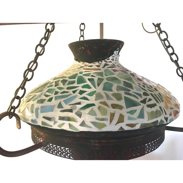 Vintage 1940s Mosaic Ceiling Lamp - Image 7 of 10