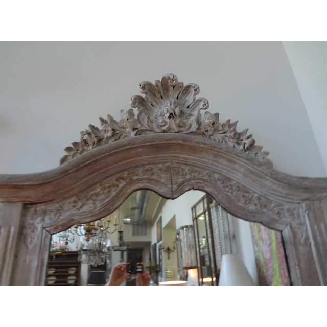 Antique 19th C. French Louis XV Painted Mirror - Image 3 of 7