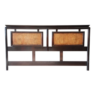 Century Furniture Burlwood and Black Lacquer Chin Hua Chinoiserie King Size Headboard