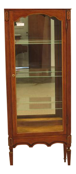 Pre Owned Kitchen Cabinets For Sale French Louis XVI Walnut Vitrine Curio Cabinet   Chairish