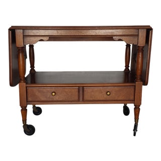 Drexel American Treasury Drop-Leaf Server Cart
