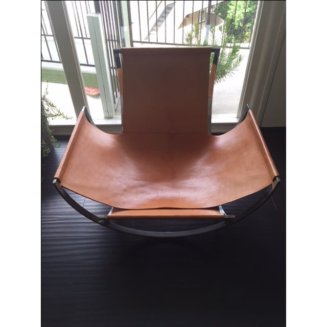Charles Stendig Leather Lounge Chairs - A Pair - Image 5 of 8