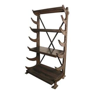 1900s Industrial Pipe Shelf
