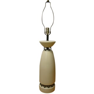 Rembrandt Style Matte White Pottery Lamp