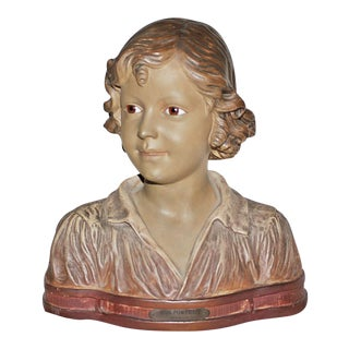 Antique French Terracotta Bust